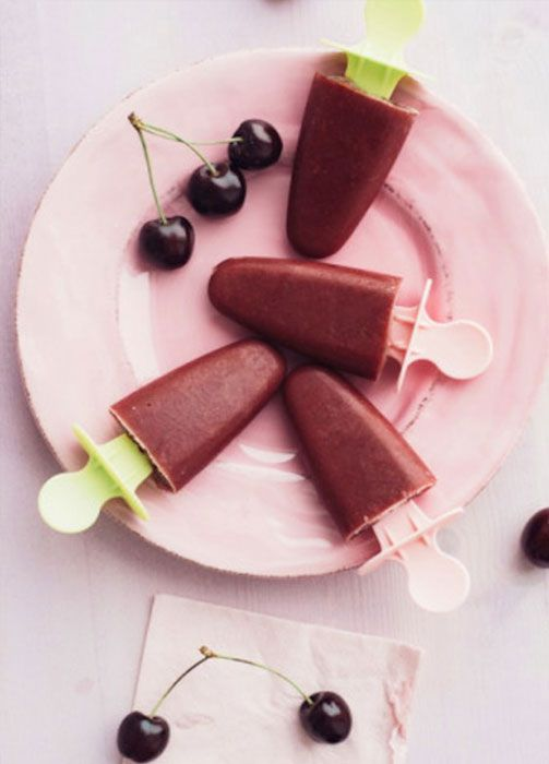 CHERRY MUDSLIDE POPSICLES